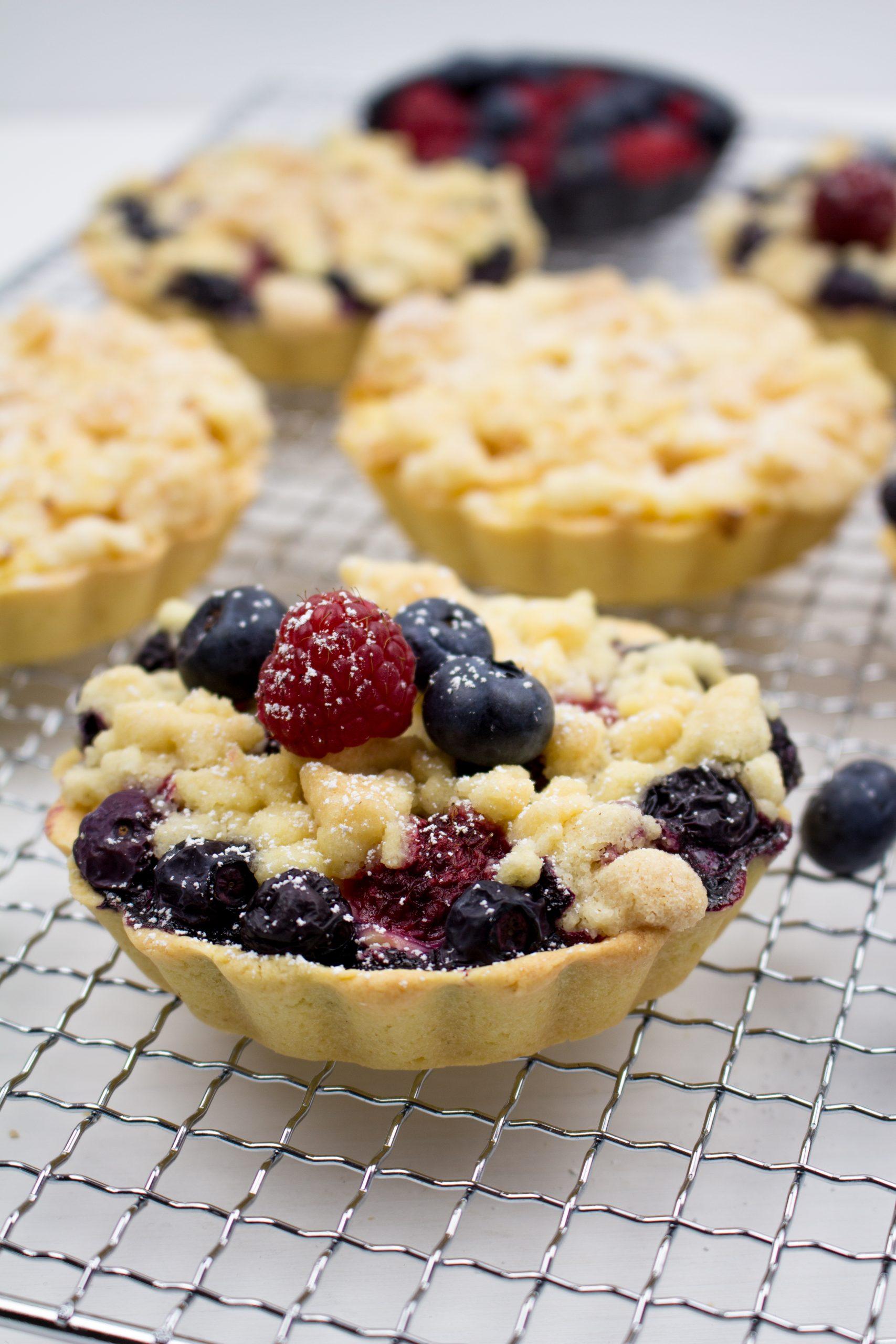 Beeren Törtchen mit Pudding
