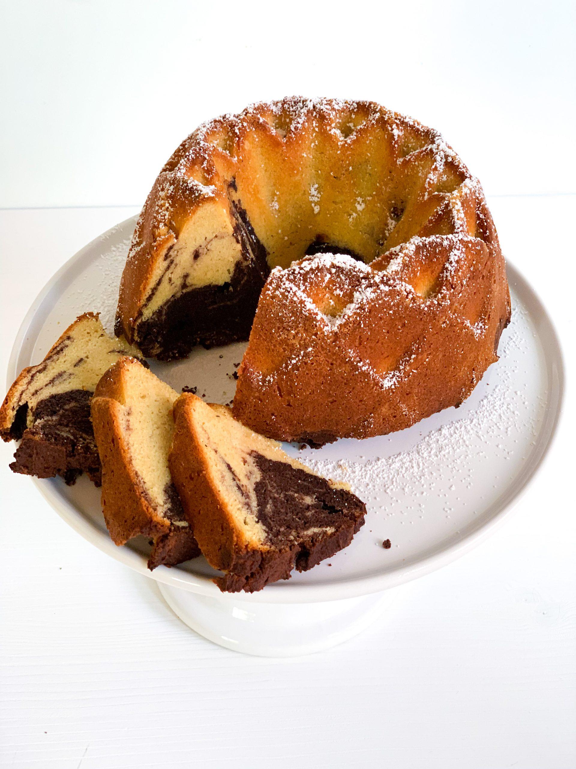 Lowcarb Marmorkuchen mit Mandel- & Kokosmehl